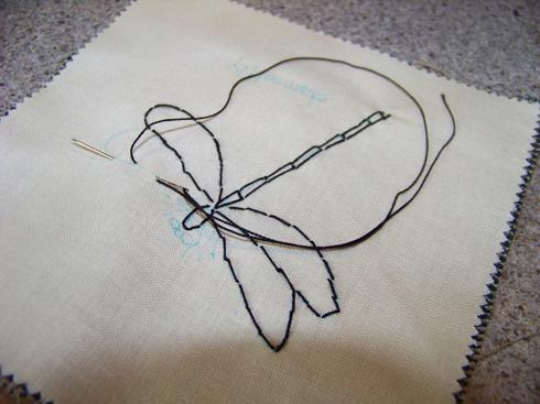 Stitching dragonfly